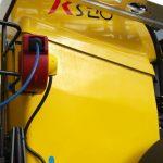 Cuve jaune 2800L sur machine